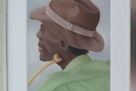 Farmer in Namibia  30 x 40  Fr. 420.00