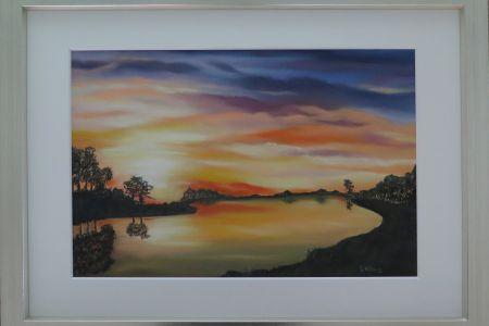 Sonnenuntergang 50 x 70  Fr. 690.00